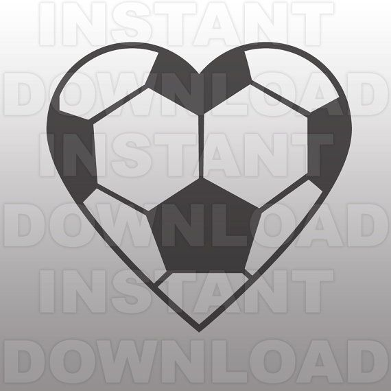 Soccer Ball Heart SVG File Cutting Template-Clip Art for by sammo