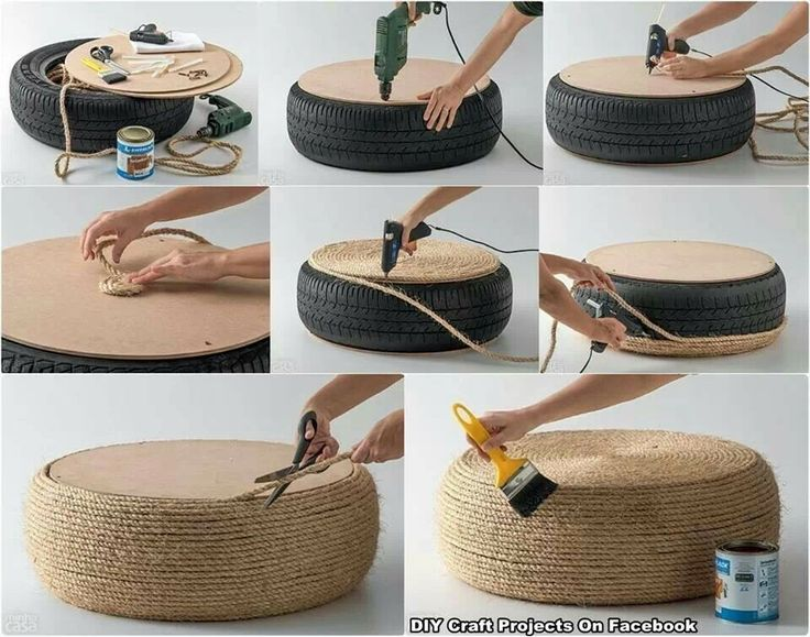 Tire foot still sitting stool stacked side table - Manualidades para chicos ...