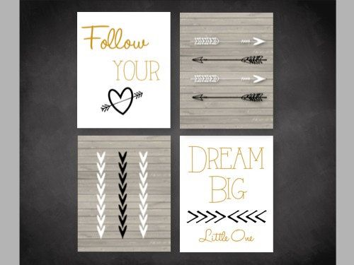 Modern Arrow Nursery 4 Pack Printable Aztec Theme Instand Baby Boy Pinterest And