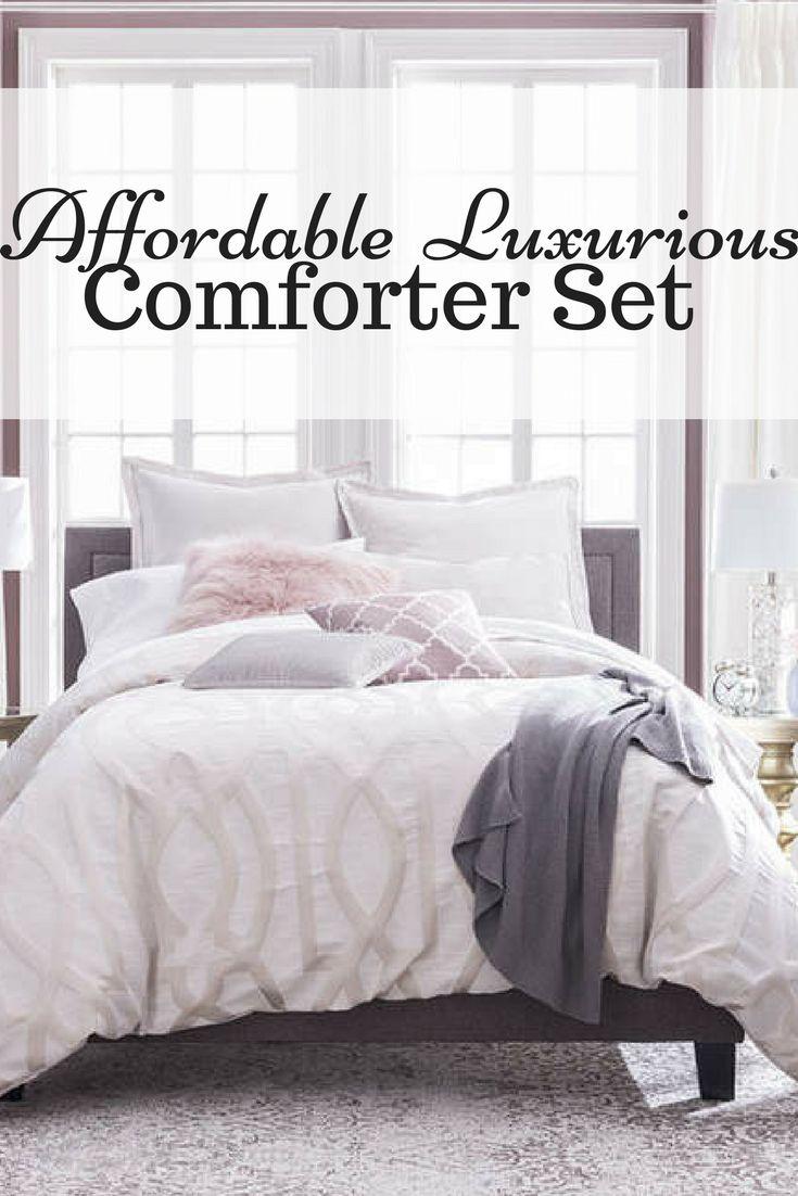 A 4-piece comforter set perfect for a #farmhouse setting #duvet #ad #bedroom #farmhousedesign #decor #homedesigns #home