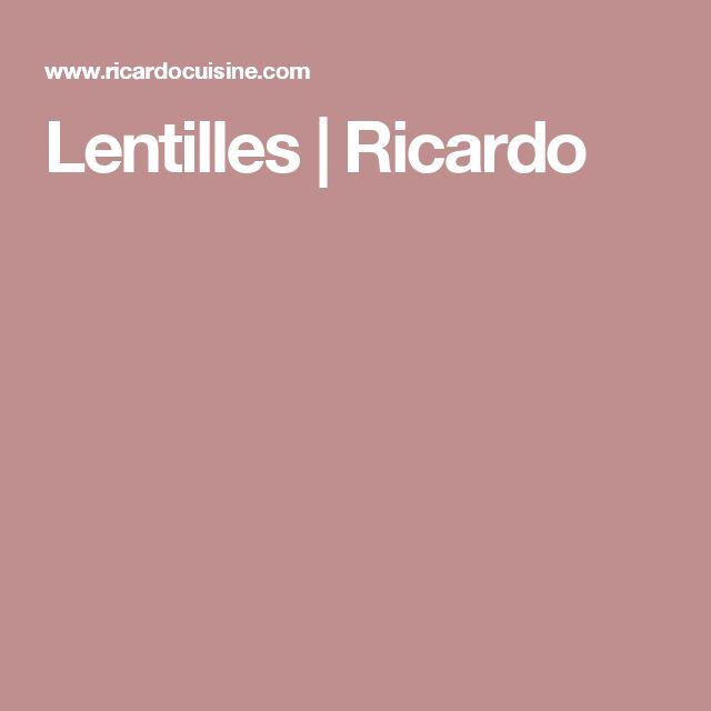 Lentilles | Ricardo