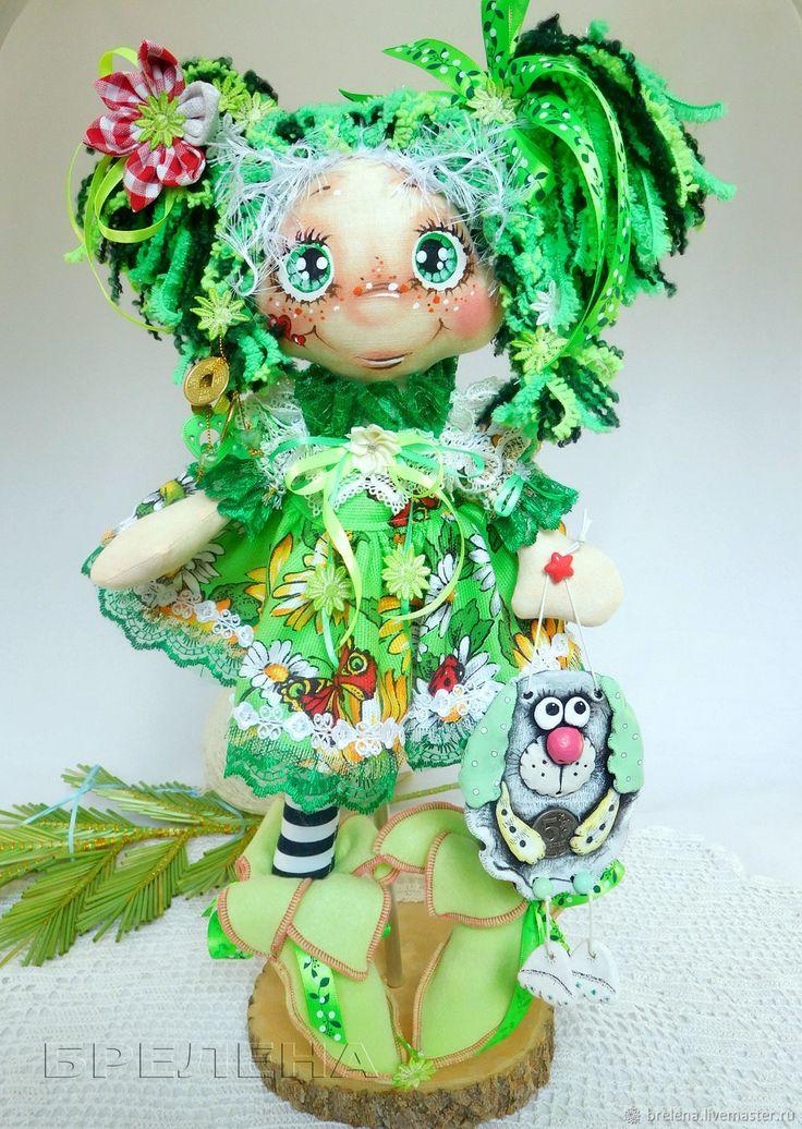 """Купить Кукла Елечка, кукла """"На Счастье"""".Текстильная интерьерная кукла в интернет магазине на Ярмарке Мастеров"""