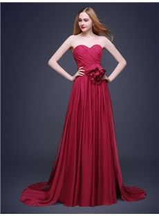 Flowers Lace-up Floor-Length Natural Spring All Sizes A-line Formal Dress