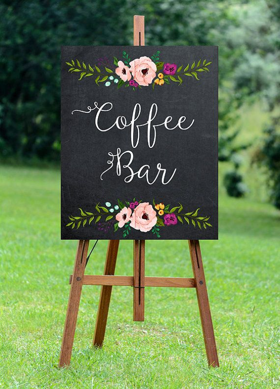 printable coffee bar sign digital coffee bar by OurFriendsEclectic