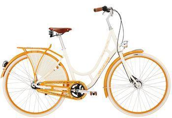 Raleigh Classic De Luxe Plus damecykel - Hvid.