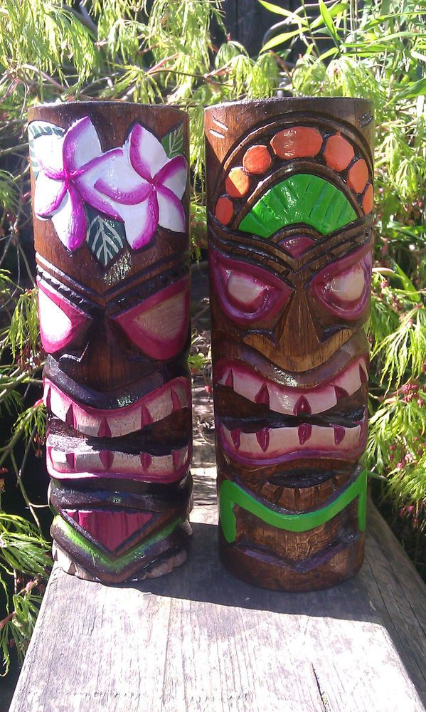 Fair Trade Indonesian Wooden Hand Carved Made Tiki Mask