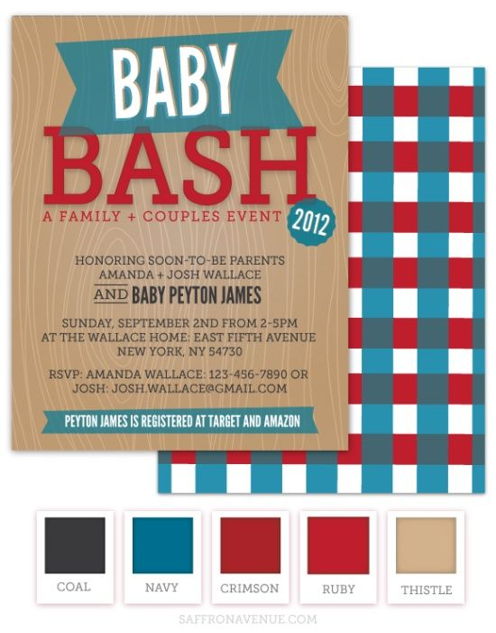 Co-Ed Baby Shower Invitation as luxury invitation template
