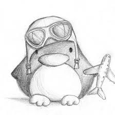 cartoon penguin drawing