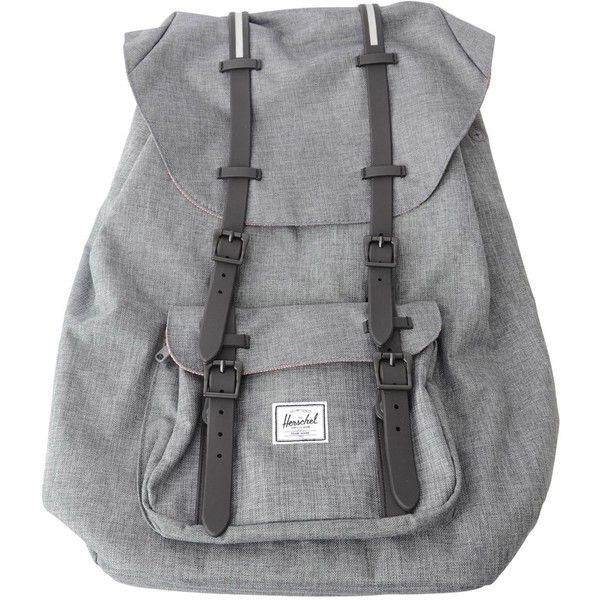 Herschel Little America Bag Grey ($145) ❤ liked on Polyvore featuring bags, backpacks, accessories, laptop duffel bag, backpack duffel bag, herschel duffle, herschel bags and grey satchel handbag