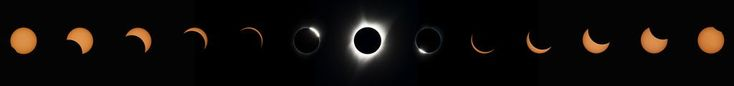 This composite image of thirteen photographs shows the progression of a total solar eclipse, from right to left, at Madras High School in Madras, Oregon on Monday, August 21, 2017. A total solar eclipse swept across a narrow portion of the contiguous United States from Lincoln Beach, Oregon to Charleston, South Carolina. A partial solar eclipse was visible across the entire North American continent along with parts of South America, Africa, and Europe. Photo Credit: (NASA/Aubrey Gemignan...