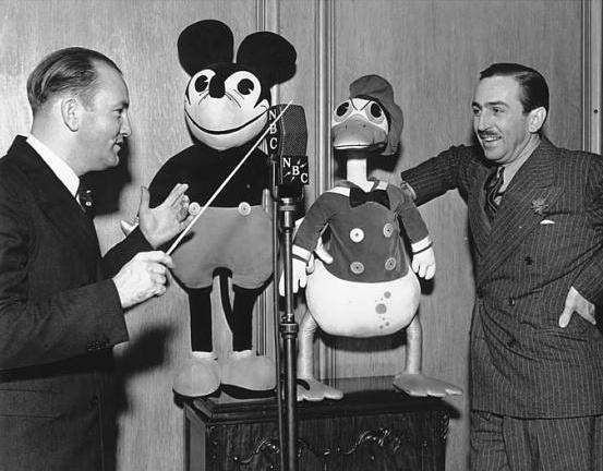 Walt Disney and Carl Stalling late 1930s