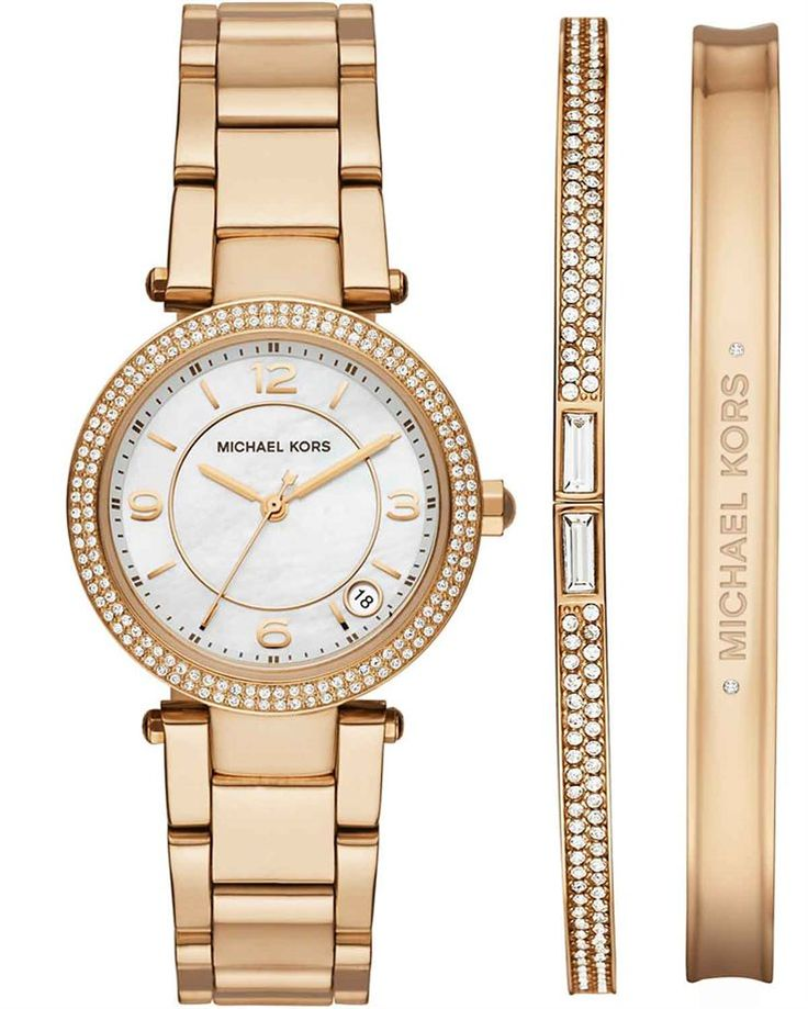 Michael KORS Darci Gold Boxed Set Stainless Steel Bracelet MK3505