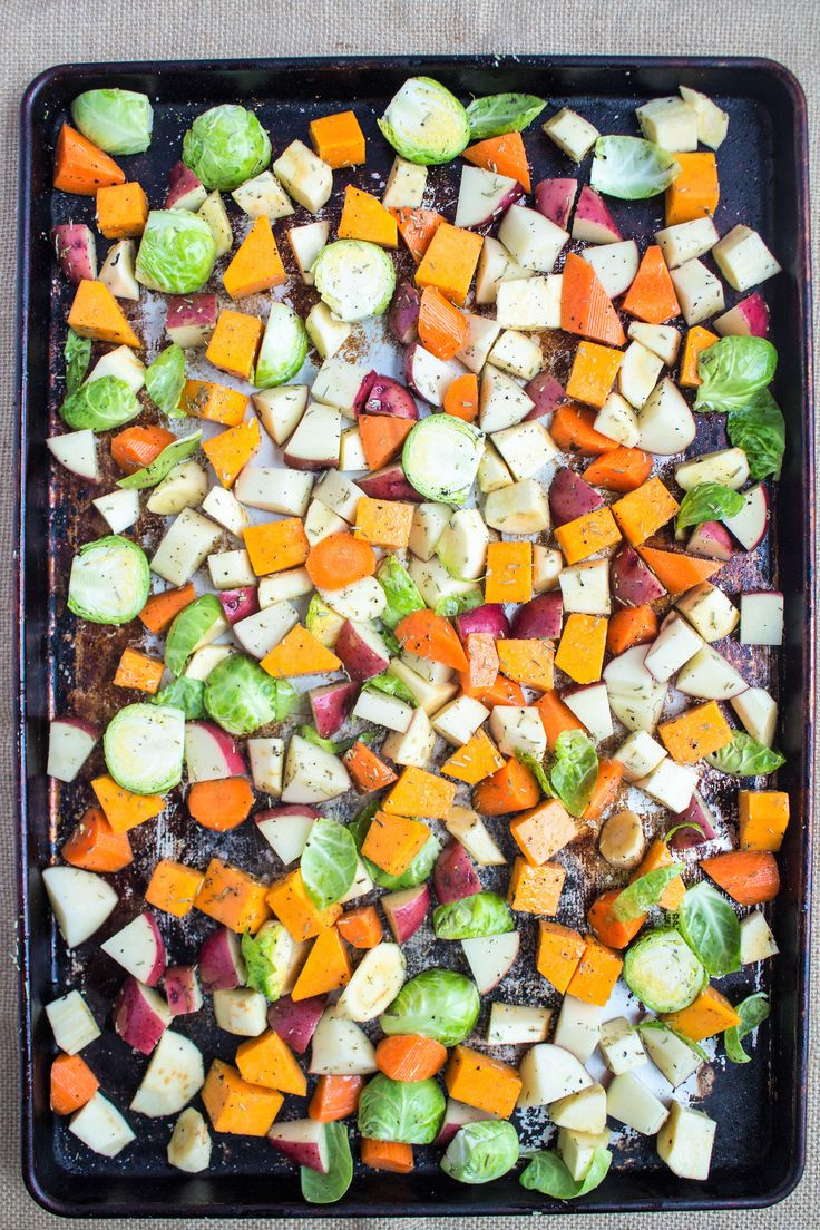 TheseGarlic Herb Roasted Veggies are a great savory side dish that comes together in no time! Let the oven do the work for a flavorful side to chicken, fish, or tofu.  Ingredients: Chopped veggies! (I used parsnips, brussels sprouts, potatoes, butternut squash, and carrots!) Olive oil Garlic powder Rosemary Cracked pepper Instructions: Preheat ovenContinue Reading …