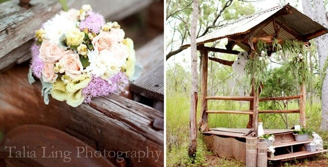 """""""Get Hitched"""" at our bush wedding chapel, at Ringers Rest, Mareeba. Photo by www.cairns-photography.com.au"""