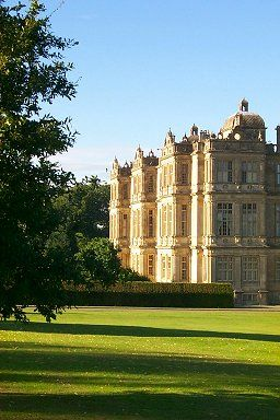 Longleat House in the evening sun, Wiltshire, UK, home of the Marquess of Bath <> (to the manor born, gentry, aristocrats, regency, nobility, manor, royals, estate)