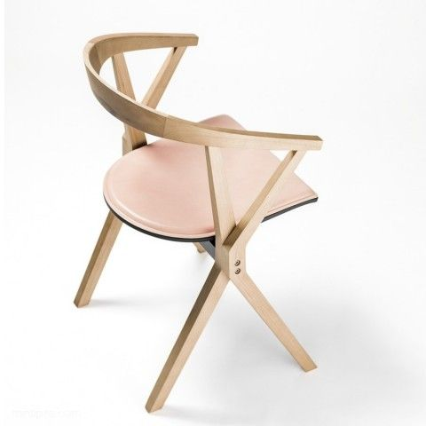 Konstantin Grcic Chair B   A Wooden Chair With Pieces Of Aluminium In Its  Structure. The Legs Are X Shaped And The Seat Folds, Which Allows For  Horizontal ...