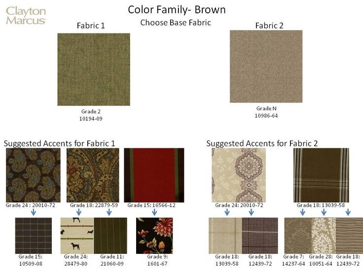 New Clayton Marcus Fabrics And Suggested Correlates