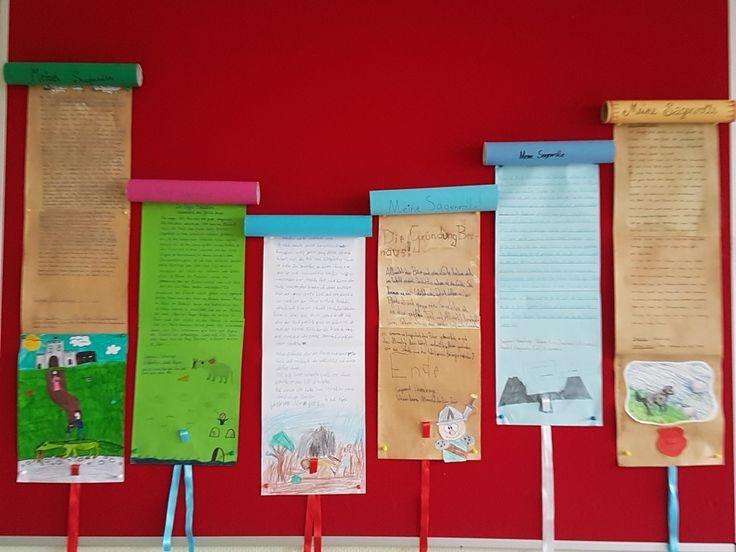 """Sagenrolle Deutsch in Klasse 4 Bestimmt auch gut als """"Schriftrolle"""" im Geschichtsunterricht umsetzbar – Nati Knien"""