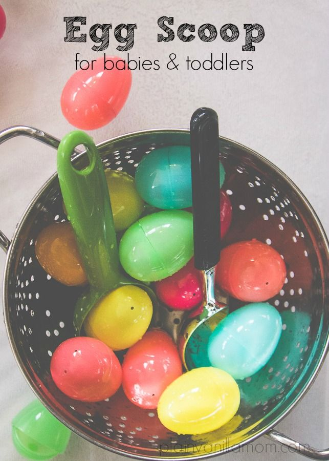 Egg Scoop Activity for babies & toddlers