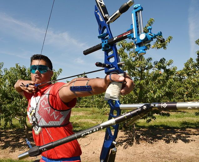 Reece Wilson-Poyton, 16, of St. Catharines is setting his sights on competing in 2020 and 2024 Olympics in archery. CHERYL CLOCK/St. Catharines Standard