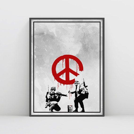 Banksy Wall Art, Banksy Print, Banksy Poster, #art #print #digital @EtsyMktgTool http://etsy.me/2jEaCXI