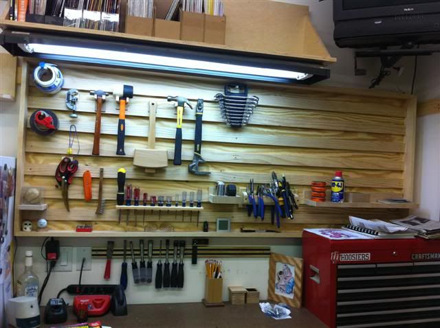 Evolution Of A Shop 13 Tool Board Over Workbench