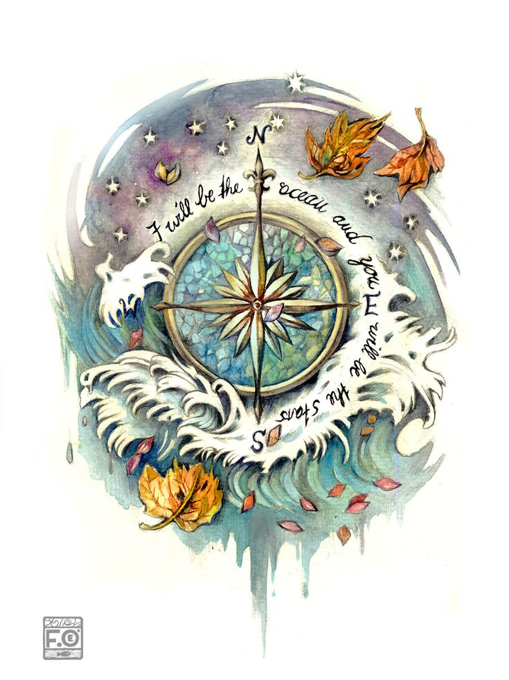 wind rose tattoo commission by *Asfahani on deviantART