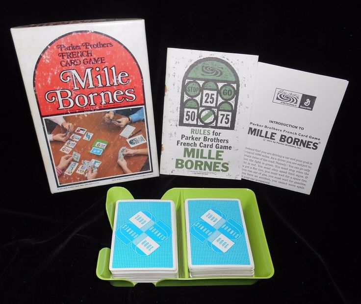 Mille Bornes French Card Game Parker Brothers 1971 Racing  #ParkerBrothers