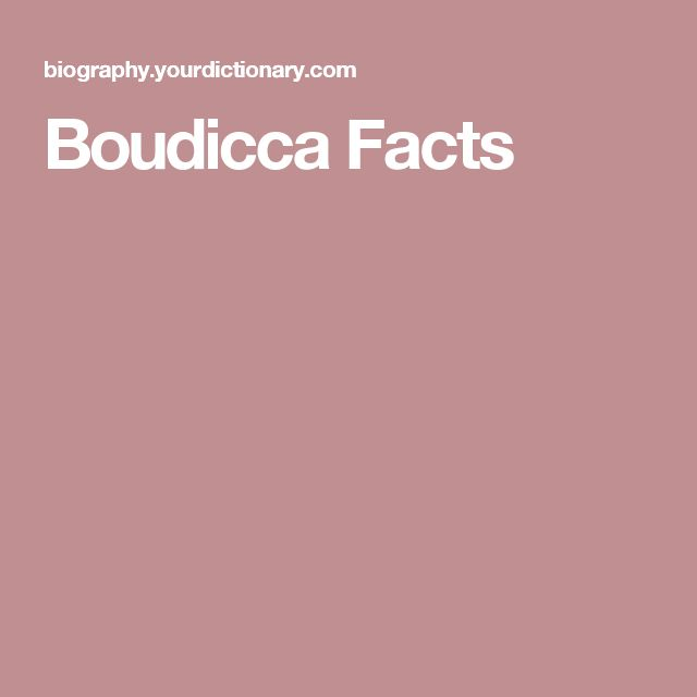 Boudicca Facts