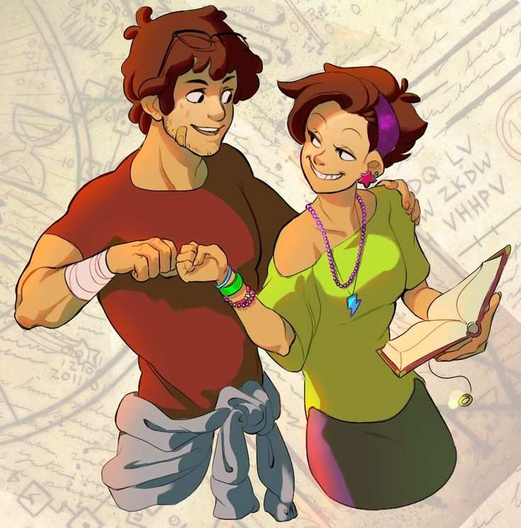 Older mystery twins fist bump. I actually really like Mabel with short hair!