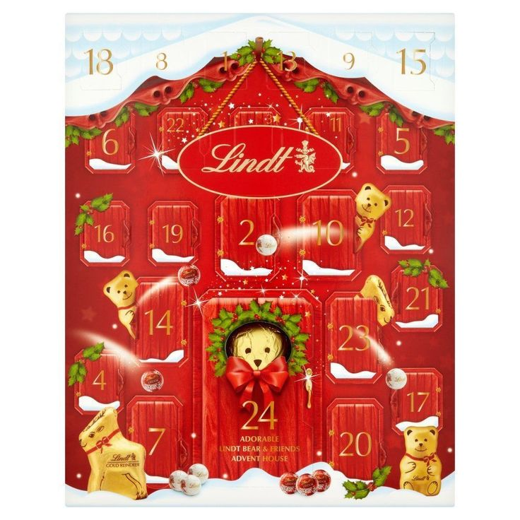 Advent Calendar 2017 Lindt Bear Thrills of Christmas Xmas Milk Chocolate 250g #AdventCalendar2017