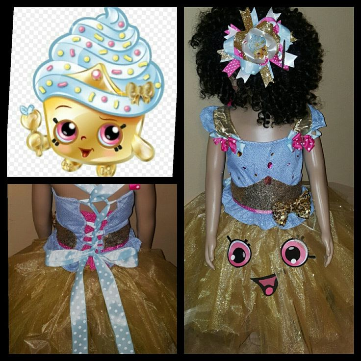 Limited Edition Shopkins Birthday Tutu Outfit Set CUPCAKE QUEEN