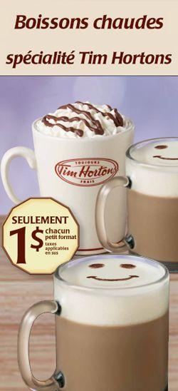Savoureux café spécial Tim Hortons  à 1 $. Fin le 6 octobre.  http://rienquedugratuit.ca/coupons/cafe-special-tim-hortons-a-1/