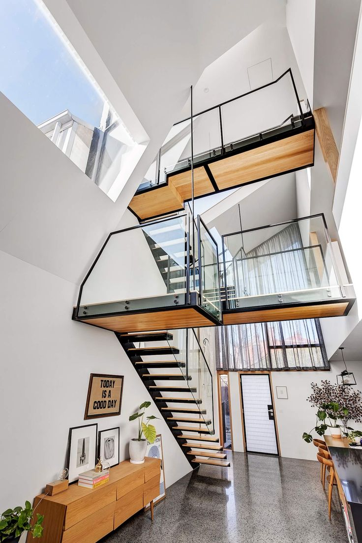 Staircase | Open House: 15 Little George Street, Fitzroy | Listed by Jellis Craig | est living