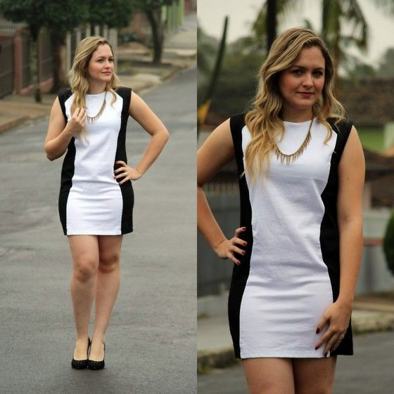 Black and white dress by Klanns Joinville. More details: www.twinsft.com.br