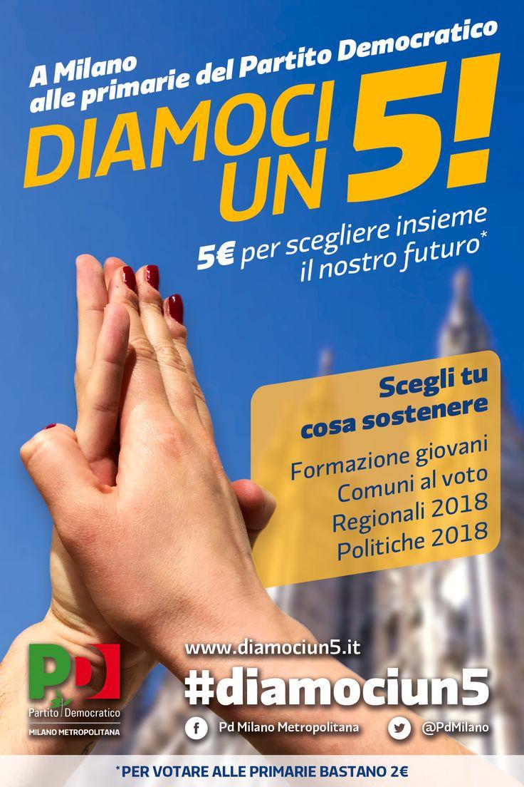 """Diamoci un 5!"", campagna crowd funding PD Milano Metropolitana // art direction"
