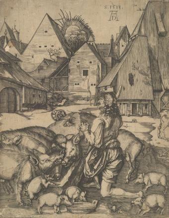 Блудный сын - Немецкая гравюра