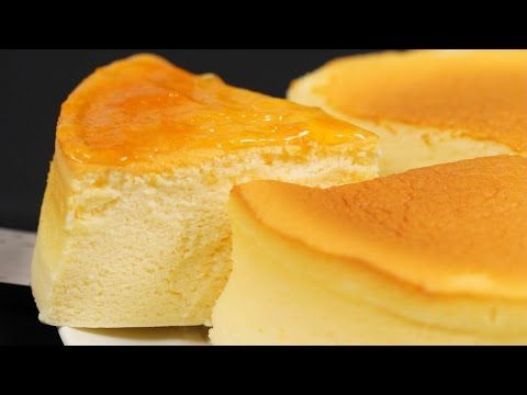 3-Ingredient Soufflé Cheesecake (Japanese Cotton Cheesecake) 材料3つでスフレチーズケーキ - OCHIKERON - YouTube