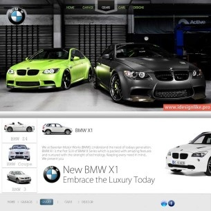 Online Rented Car Service Web Theme