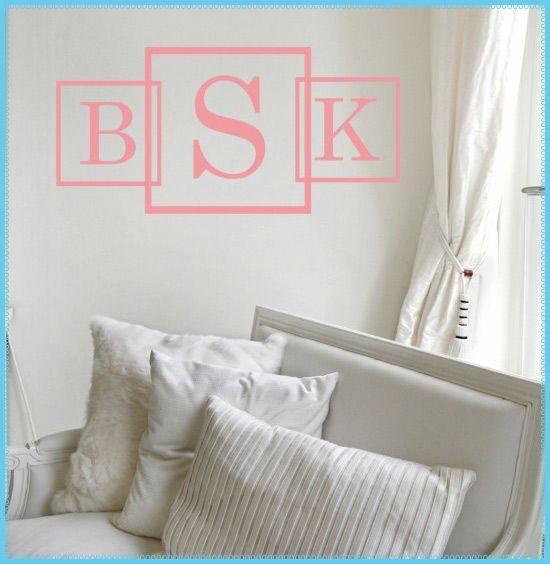 Best Wall Decals Images On Pinterest - Monogram wall decals for business