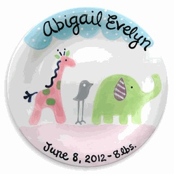 34 best personalized baby girl gifts images on pinterest baby safari friends personalized plate girl lwc 120g unique baby giftsbaby negle