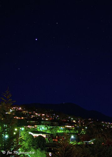 The Align of Spica, Venus and Saturn over Mt Wellington :)