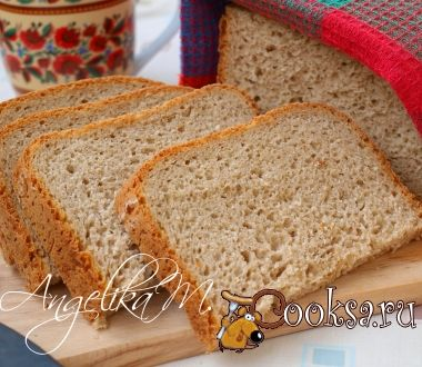 Ржаной хлеб с овсяными хлопьями на пиве в хлебопечке