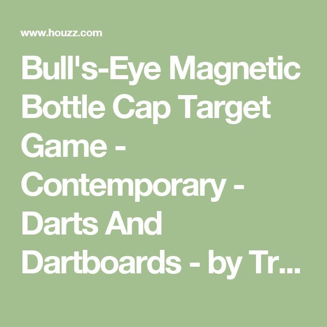 Bull's-Eye Magnetic Bottle Cap Target Game - Contemporary - Darts And Dartboards - by True Brands