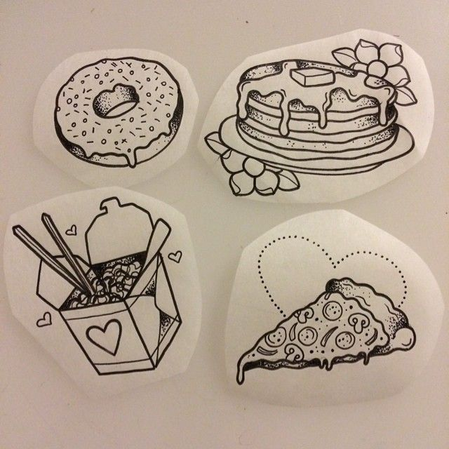 TATTOO INSPIRATION BY RAINBOWGORED ~ I would so get the donut one matching with a friend