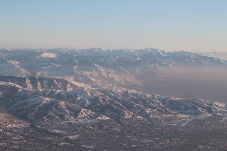 Picture taken at take off from Salt Lake City, Utah