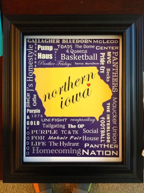 University of Northern Iowa UNI Poster by expresssionsbyLaura