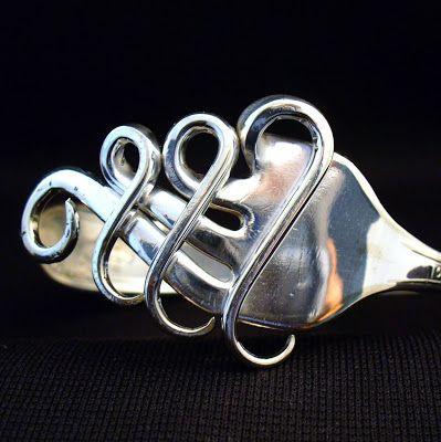 Coco 的美術館: DIY 叉子手環 (fork bracelet)--How to make a fork bracelet