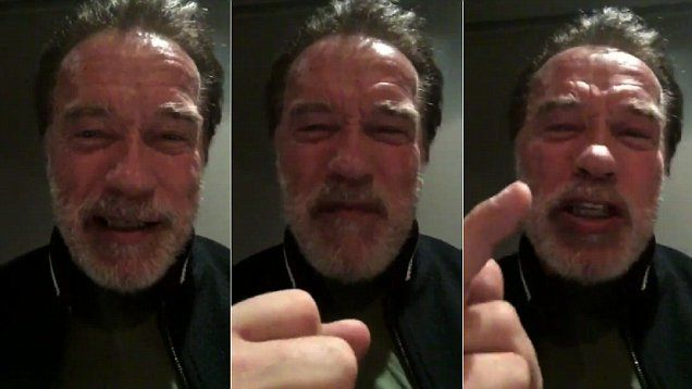 Houston Texans defensive end J.J. Watt on Saturday night apologized to fans after his team's shutout loss to the Chiefs, and he got a message back from Arnold Schwarzenegger.