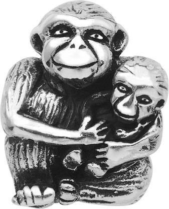 """Persona Sterling Silver """"Monkey Love"""" Charm H12345P1"""